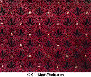 texture of red fabric wallpaper pattern