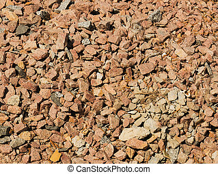 Texture of red rubble. A rock