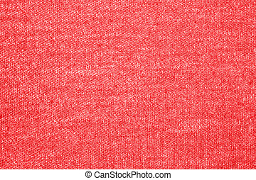 Texture of red wool with white speckles.