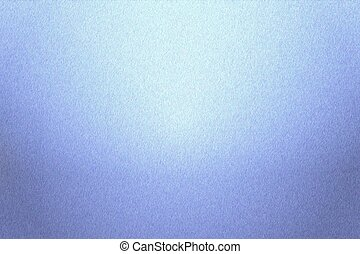 Texture of reflection on rough light blue steel wall, abstract background