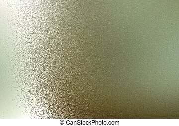 Texture of reflection on rough light brown steel wall, abstract background