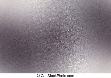Texture of reflection on rough purple steel wall, abstract background