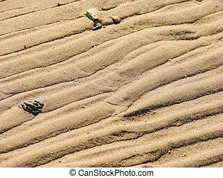 Texture of sand, on the beach near the sea