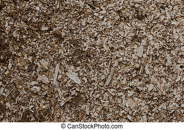 Texture of sawdust from handicraft product.