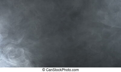 Texture of smoky cloud, 4k - White smoky cloud of electronic...