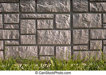 stone house foundation - Texture of stone house foundation...