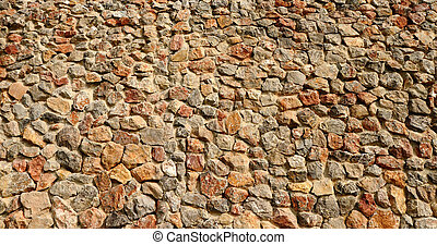 Texture of stone wall panorama
