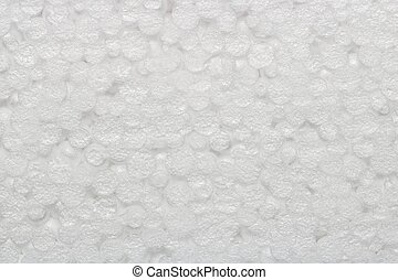 Texture of styrofoam ball white color, abstract background