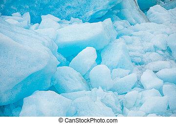 Texture of Svartisen Glacier in Norway, nature background