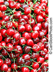 texture of the cherry is photographed