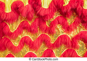 Texture of the Chinese lion's body celebrates