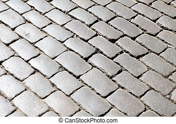 Texture of the old block pavement, background