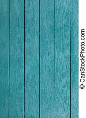 old blue wooden fence