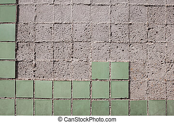 Texture of the old tile wall