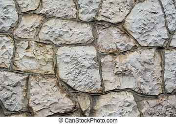 texture of the walls with wild stone for background
