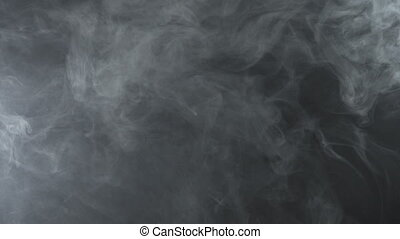 Texture of vapor clouds, 4k - White smoky cloud of...