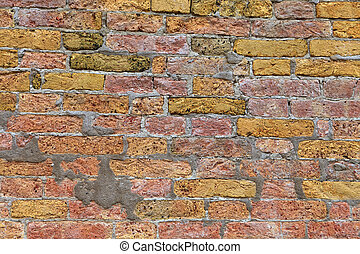Texture of Venetian brick wal