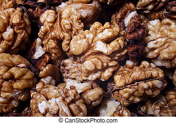 texture of walnuts without shell
