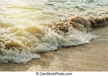 Texture of water with beach