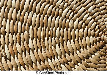 texture of wicker basket