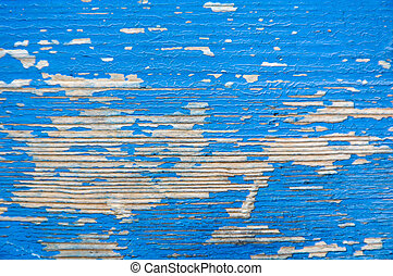 Texture of wood painted blue
