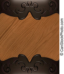 Texture of wood with a brown pattern on the edges