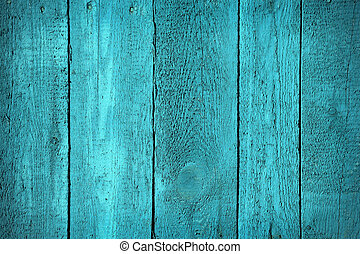 Texture of wooden blue fence