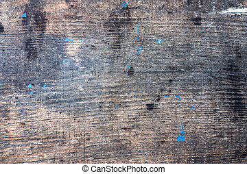 Texture of wooden plank with spots