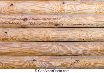 Texture of wooden wall from logs