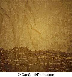 texture, papier, -, brun, sheet.
