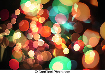 Texture  - Defocused ligths of Christmas tree