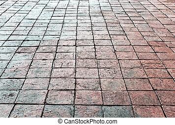 texture pierre, route, rue, trottoir, vendange
