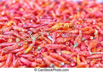 texture, poivre, fond, résumé, brouillé, chilli