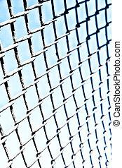 texture, résumé, surface, grille, métal