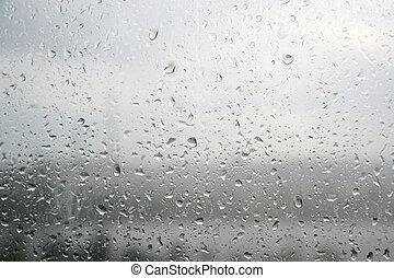 Texture- rain drops at a window glass