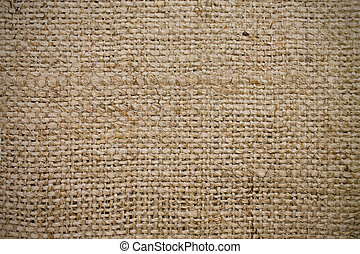 texture sacking of rough weaving of beige color
