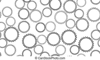 Texture seamless pattern of black round abstract carved ...