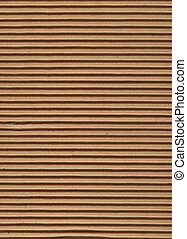 Texture Series - Corrugated Cardboard - Close up of ...