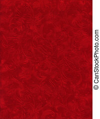 Texture Series - Red Velvet - Close up of red velvet paper...