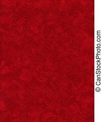Texture Series - Red Velvet - Close up of red velvet paper...
