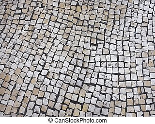 Texture tile Street in Portuguese style