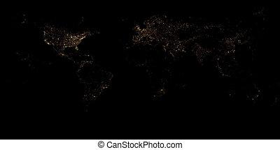 .texture, város, háttér, éjszaka, kilátás, mellékbolygó, vagy