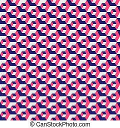 texture., vecteur, rouges, géométrique, grille couleur, seamless, illustration., arrière-plan., modèle, hexagonal, hexagone