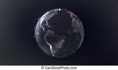 Texture view of the globe from space HD