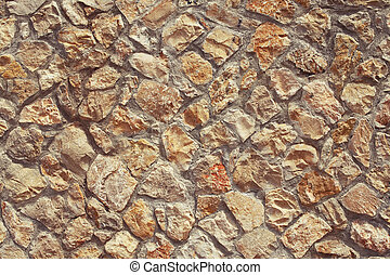 Texture wall of many stones, abstract background