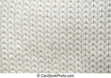 texture white knitted scarf