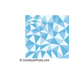 Texture with blue triangles