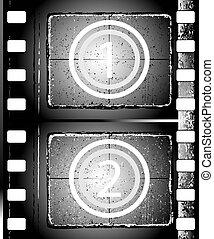 textured, フィルムの ストリップ