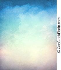 textured, 坡度, cloudscape