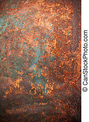 textured, 生锈, backround, 金属
